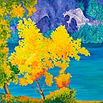 Crescent Lake by Gail Powell (Oil Painting)