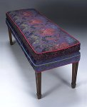 Rose Bench by Mary Lynn O'Shea (Upholstered Bench)
