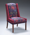 Windham Chair in Melody Plum by Mary Lynn O'Shea (Upholstered Chair)