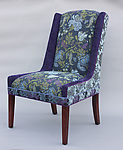 Windham Chair in Blue Lavender by Mary Lynn O'Shea (Upholstered Chair)