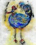 Le Coq Bleu 2 by Roberta Ann Busard (Giclee Print)