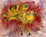 Yellow Bird #1 by Roberta Ann Busard (Giclée Print)
