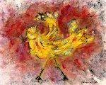 Yellow Bird #2 by Roberta Ann Busard (Giclée Print)