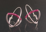 Double Arc Hoop  by Theresa Carson (Silver & Stone Earrings)