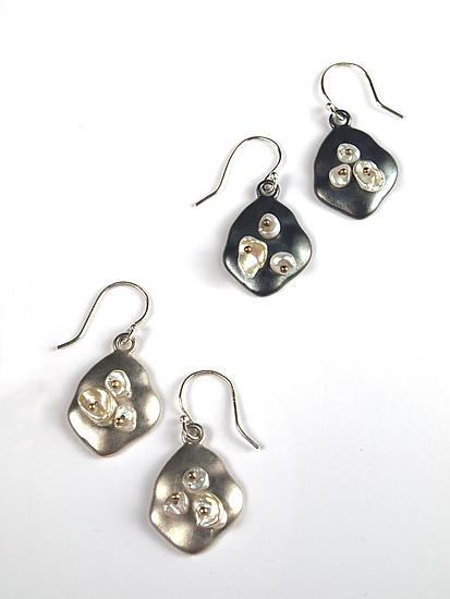 Keshi on Satin Sterling Earrings