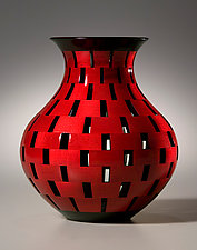Open Segment Vase by Joel Hunnicutt (Wood Sculpture)