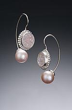 Jemloch Earring with Druzy by Samantha Freeman (Silver, Stone & Pearl Earrings)