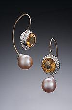 Jemloch Earring with Citrine by Samantha Freeman (Silver, Stone & Pearl Earrings)