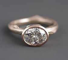 Rose Gold Moissanite Twig Ring by Sarah Hood (Gold & Stone Ring)