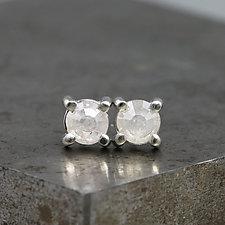 4.5mm Rose Cut Diamond Earrings by Sarah Hood (Gold & Stone Earrings)