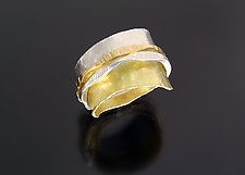 Slim Ran Ring by Sana  Doumet (Gold & Silver Ring)