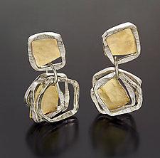 Aqua Earrings by Sana  Doumet (Gold & Silver Earrings)