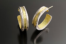 Luna Hoops by Sana  Doumet (Gold & Silver Earrings)