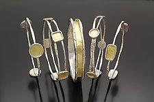 Charming Stacking Bangles by Sana  Doumet (Gold & Silver Bracelet)