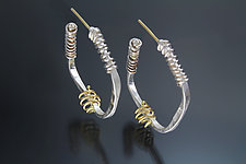 African Inspirations Hoop Earrings by Sana  Doumet (Gold & Silver Earrings)