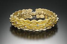 Vermeil Pangolin Bracelet with Stones by Samantha Freeman (Gold & Stone Bracelet)