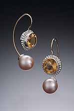 Jemloch Earring with Citrine by Samantha Freeman (Silver, Stone & Pearl Earrings)