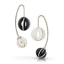 Yin Yang Jemloch Earring by Samantha Freeman (Silver Earrings)
