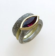 Earth Elements with Rhodolite Garnet by Susan Barth (Silver, Gold & Stone Rings)