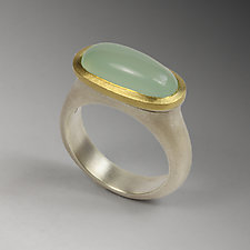Pastille Ring - Size 6.5 by Susan Barth (Silver, Gold, & Stone Ring)