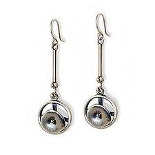 Circles in Motion by Virginia Stevens (Silver Earrings)