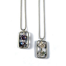 Pearls in Motion II by Virginia Stevens (Silver & Pearl Pendant)