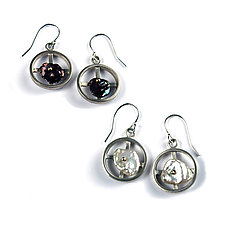 Pearls in Motion Earrings by Virginia Stevens (Silver & Pearl Earrings)