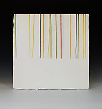 Line in Gold & Green by James Aarons (Ceramic Wall Sculpture)