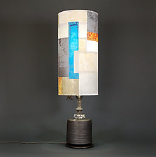 Way to Blue by James Aarons (Mixed-Media Table Lamp)