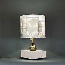Green Fingers by James Aarons (Mixed-Media Table Lamp)