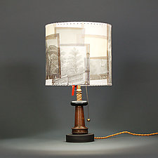 Heavy Metal by James Aarons (Mixed-Media Table Lamp)