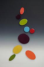 Vertical Gems by James Aarons (Ceramic Wall Sculpture)