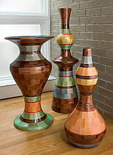 Etruscan Dreams Vessels by Joel Hunnicutt (Wood Sculpture)