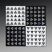 XOYO Triangles Tile by Marek Jacisin (Ceramic Wall Sculpture)