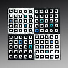 XOYO Squares Tile by Marek Jacisin (Ceramic Wall Sculpture)