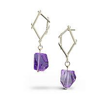 Small Sticks & Stones Earrings by Danielle Miller (Silver & Stone Earrings)