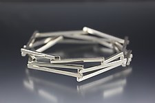 Sticks Bangle by Danielle Miller (Silver Bracelet)