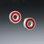 Circle Earrings by Ben Neubauer (Silver & Resin Earrings)