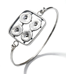 Geometrics in Motion Bracelet 2 by Virginia Stevens (Silver Bracelet)