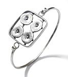 Geometrics in Motion Bracelet 2 by Virginia Stevens (Silver Bracelet)
