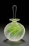 Apple Green Swirl by Mary Angus (Art Glass Perfume Bottle)