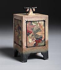 Autumn Leaf Wish Box by Christine Adcock and Michael Adcock (Ceramic Box)
