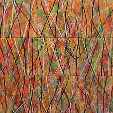 Cerulean by Nelda Warkentin (Fiber Wall Hanging)