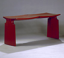 Museum of Fine Art Bench by David N. Ebner (Wood Bench)