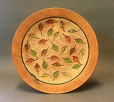 Leaf Platter by Christine Adcock and Michael Adcock (Ceramic Platter)