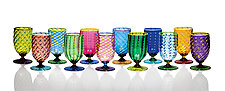 Tutti Frutti Water Glasses II by Robert Dane (Art Glass Goblets)