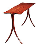 Afromosia Sofa Table Wood by David N. Ebner (Wood Console Table)