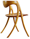 Red Oak Writing Chair by David N. Ebner (Wood Chair)