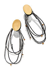 Velo Earrings by Sydney Lynch (Gold & Silver Earrings)