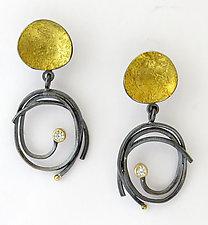 Pebble Scribble Earrings by Sydney Lynch (Gold, Silver & Stone Earrings)